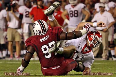 October 6, 2012 South Carolina Gamecocks 35, Georgia Bulldogs 7 Williams Brice Stadium, Columbia, SC