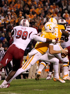 October 29, 2011 South Carolina 14, Tennessee 3 at Neyland Stadium in Knoxville, Tenn.
