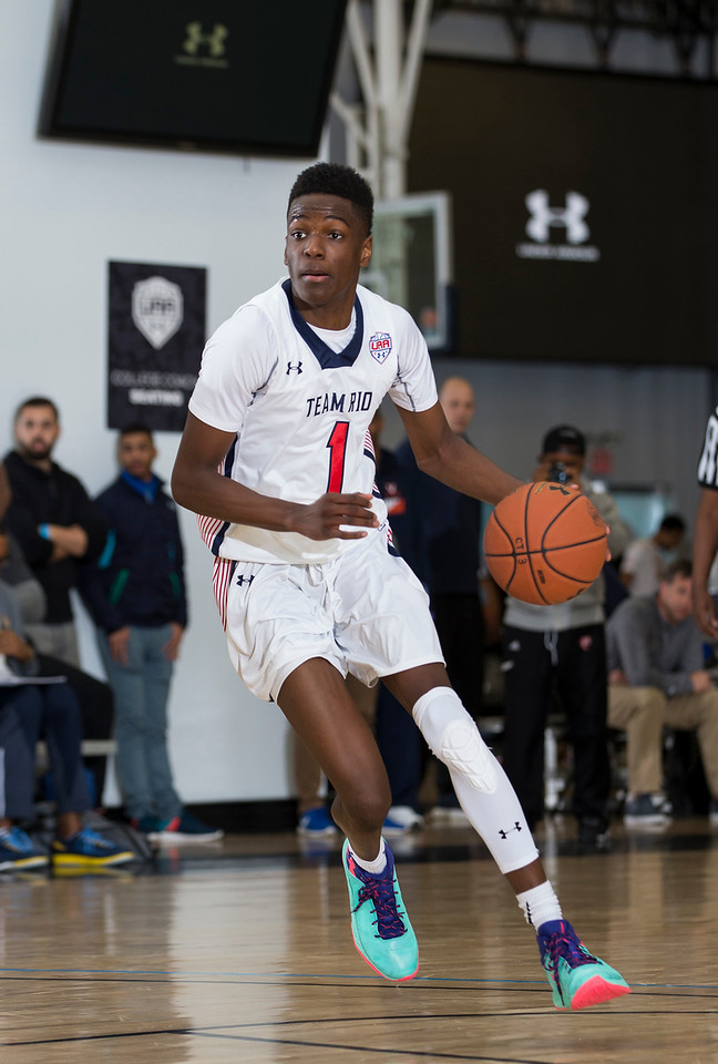 NEW YORK, NY - April 16, 2016: UAA tournament at Basketball City in New York City. (Photo by Kelly Kline/Under Armour)