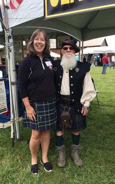 Clan Graham Society members Kathleen Wheeless and Chester Maritz.