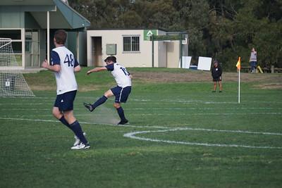 Richard Huysmans takes a free kick