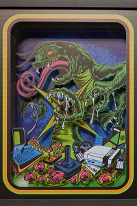 Shadow Box Vintage Video Game Prints