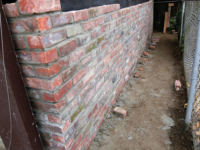 Looks like a brick wall, but glad it's not on the front of the house....