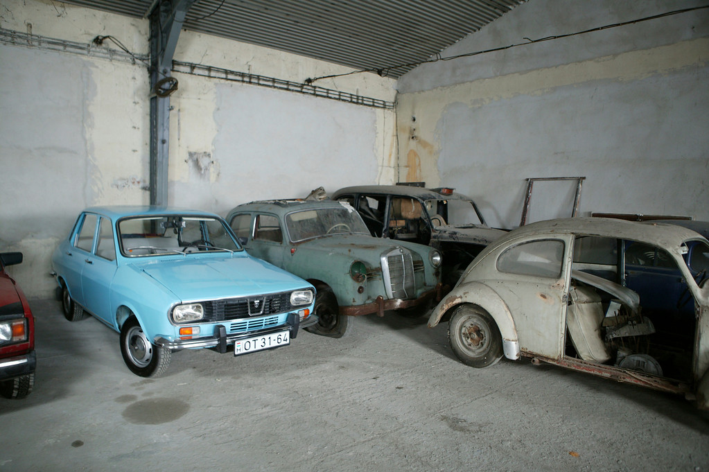 2-10<br /> This room contains a bright blue 1975 Dacia 1300, which was built by a Romanian company that purchased the tooling for the Renault 12.
