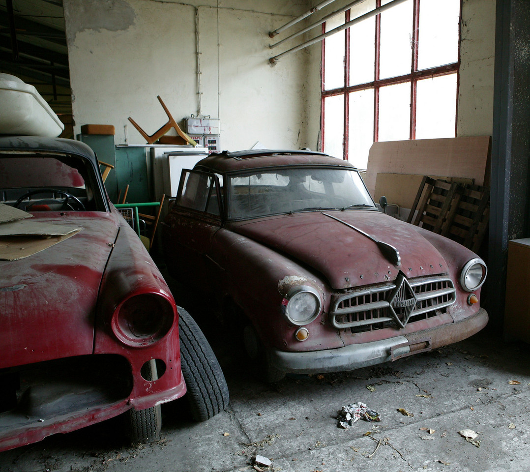 2-16<br /> Borgward was a German auto manufacturer founded by Carl F. Bordward whose first product was a two-horsepower three-wheeled car, the Blitzkarren, a popular postal delivery machine. The Hansa 1500 (right) was introduced after World War II. Borgward continued to produce cars, including a few sports racers, until the company went bankrupt and was sold in the early 1960s.