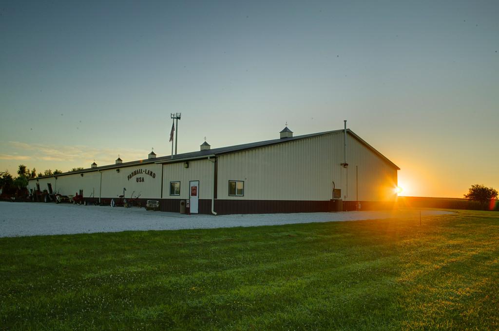 Farmall-Land USA at dawn.