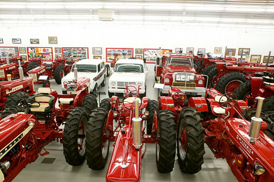 1-14 The collection is mainly farm tractors, but a few IH trucks are included as well.