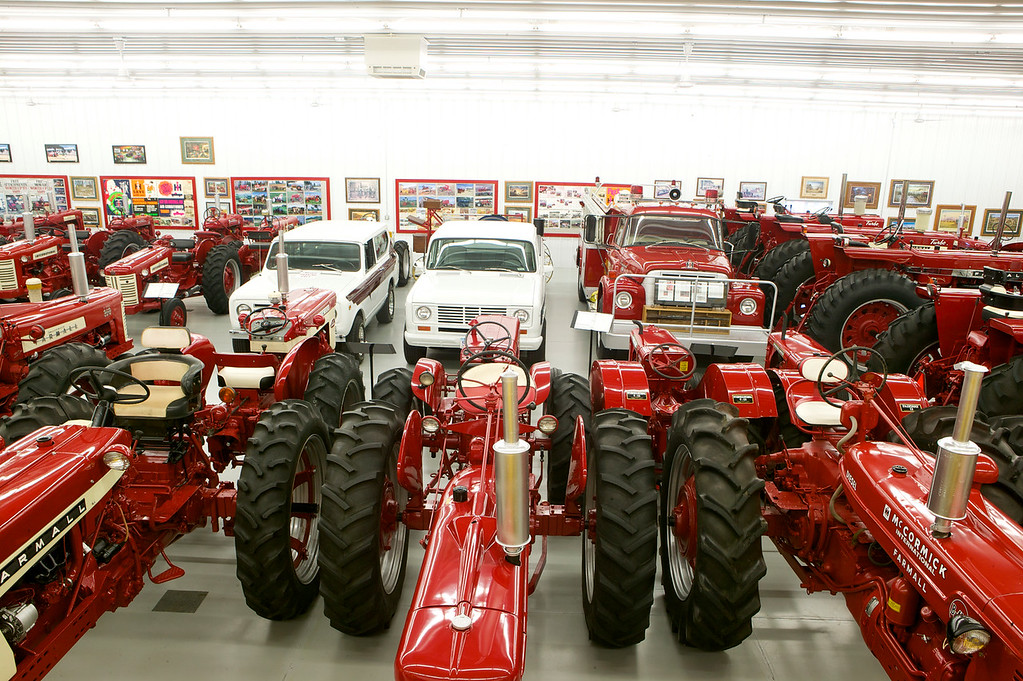 1-14<br /> The collection is mainly farm tractors, but a few IH trucks are included as well.