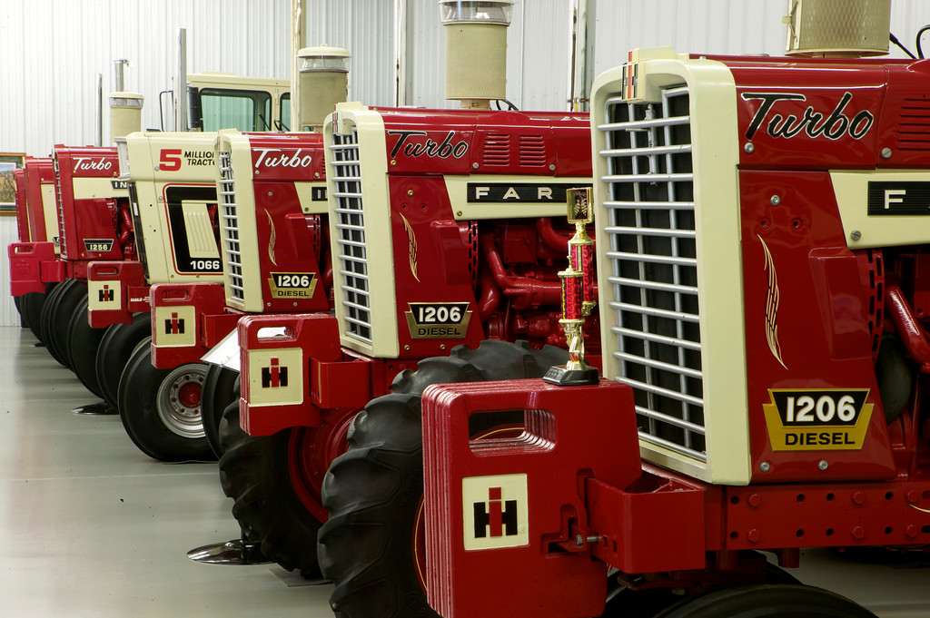 1-16<br /> The collection has several 1206s, including a 1966 model that was originally sold by Max Mez at Avoca Implement. Jerry bought it back from the original owner in 1988.