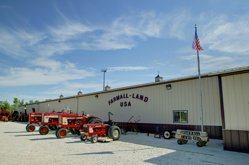 1-1<br /> Farmall-Land USA is a museum in Avoca, Iowa that contains more than 150 International Harvester tractors and thousands of pieces of memorabilia.