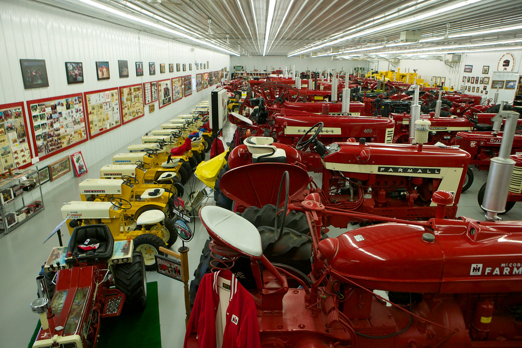 1-3<br /> The facility is a 26,500 square-foot metal building that is heated and air conditioned. Farmall-Land USA is open Tuesday through Sunday during the summer, and available for visits by advance appointment in the winter.