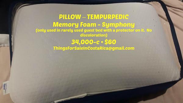 PILLOW – TEMPURPEDIC Memory Foam - Symphony  =  34,000-c/$60