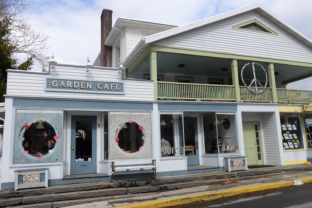 . Tania Barricklo-Daily Freeman    Garden Cafe, located on the Green in Woodstock, N.Y.