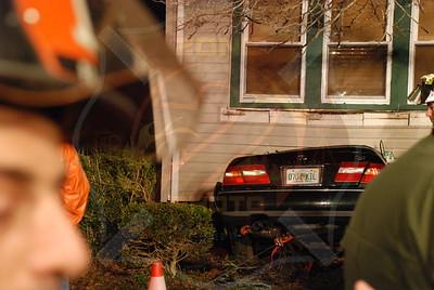 Garden City Park F.D. Fatal MVA Car into House 73 5th Ave. 3/18/10