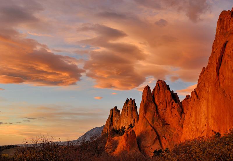 """Sentinels of Dawn"" - Garden of the Gods, Colorado Springs, CO"