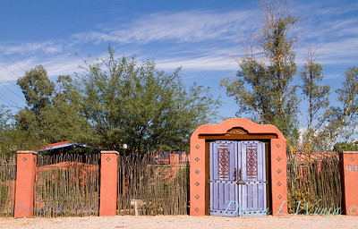 Ocotillo fence Purple doors_8409L
