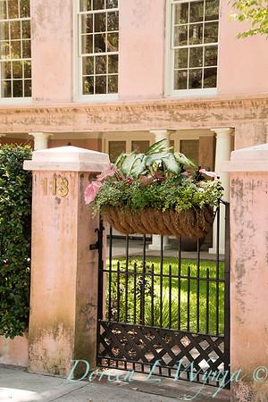 Garden gate with hanging basket_7554