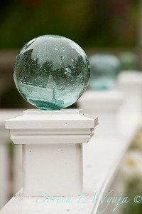 Glass float - white fence post_1218