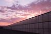commercial greenhouse; dusk; evening glow; evening sky; Greenhouses; Sunset; sunset drama; Visalia