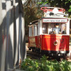 Vintage LGB Eurotram on a stellar New Year's Day.