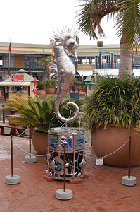 Sea Horse  A bit of the local crafts on display at the Knysna Quays.
