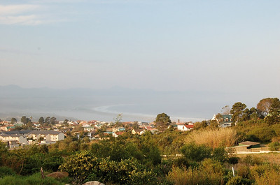 The View of Plett  Castleton is situated up on a hill over looking Plettenberg Bay.  This view is of the town side and the bay.