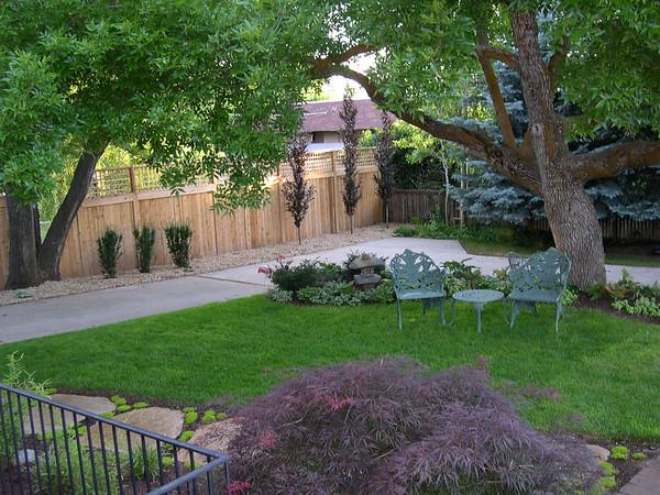 Back garden elegance.
