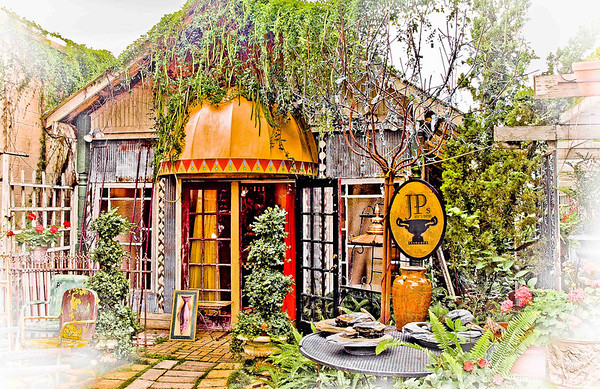 """' Joy's Patio '  Freehope, AL  12""""x16"""" on 13""""x19""""  Fine Arts Paper  Open Edition     ~ Also available as a Note Card ~"""