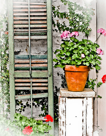 """' Pot & Shutter '  Freehope, AL  12""""x16"""" on 13""""x19""""  Fine Arts Paper  Open Edition     ~ Also available as a Note Card ~"""