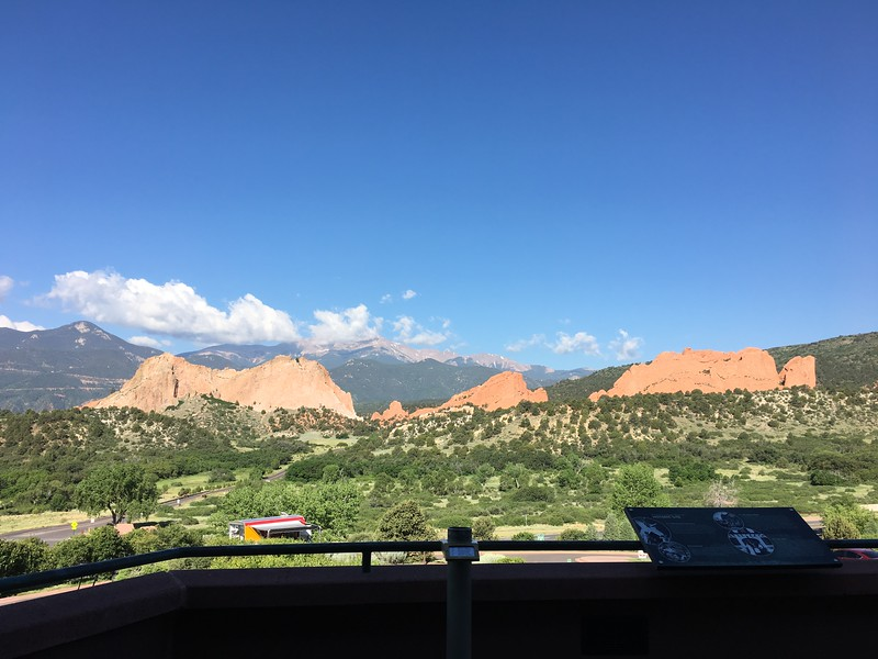 Beautiful day at Garden of the Gods visitor center