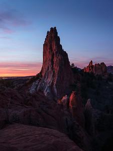 Late January Sunrise, Garden of the Gods