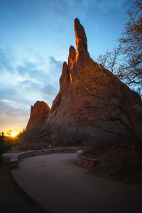 January sunrise in the Garden of the Gods