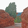 A passageway through Garden of the Gods is wide enough for a road.