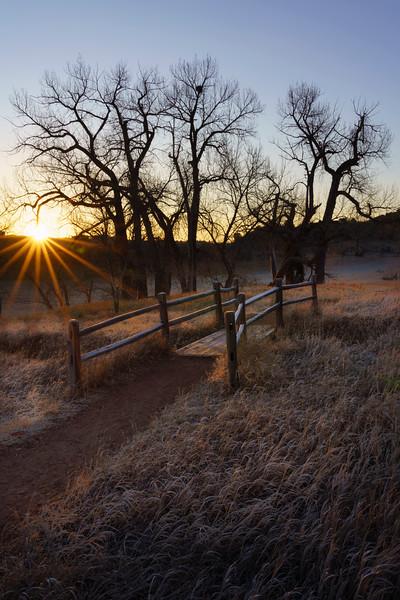 Winter sunrise ,Garden of the Gods