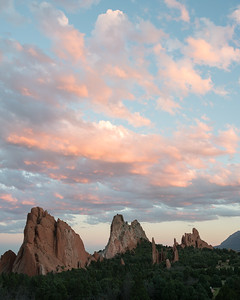 Pastel sunset, Garden of the Gods.