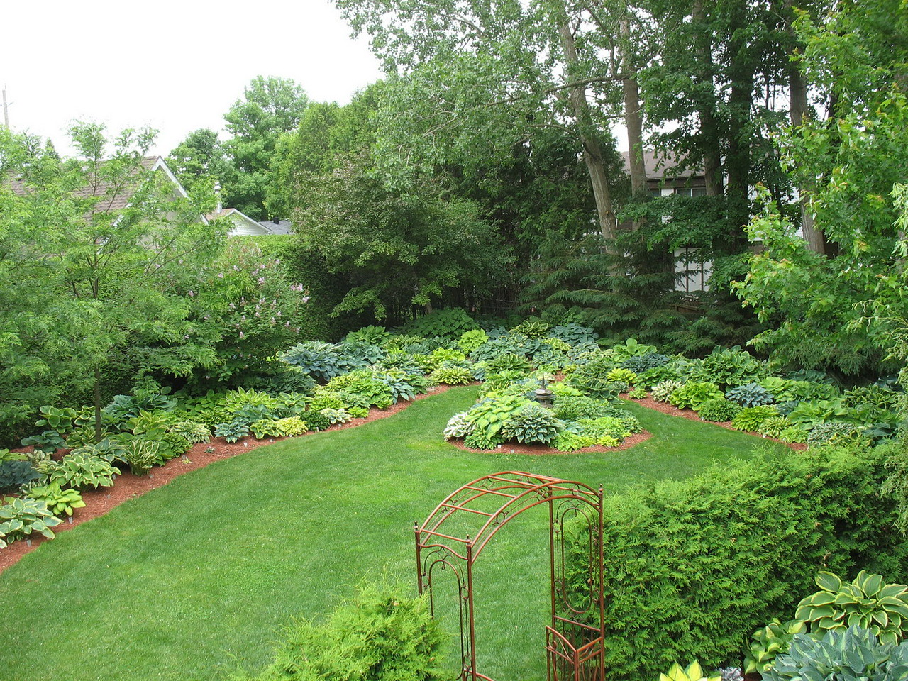 Don Budd's garden from deck.