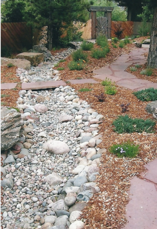 A dry river bed