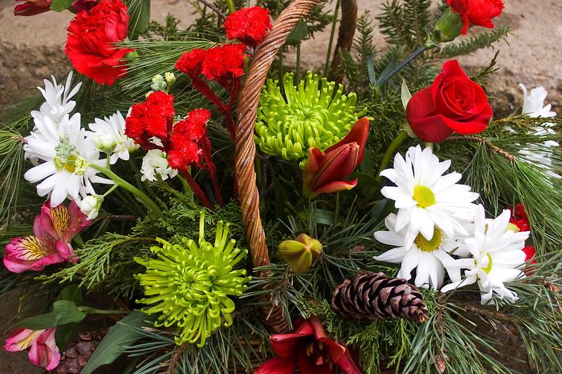 bouquet, Christmas (alstroemeria, carnation, daisy, liliy, mum, rose)