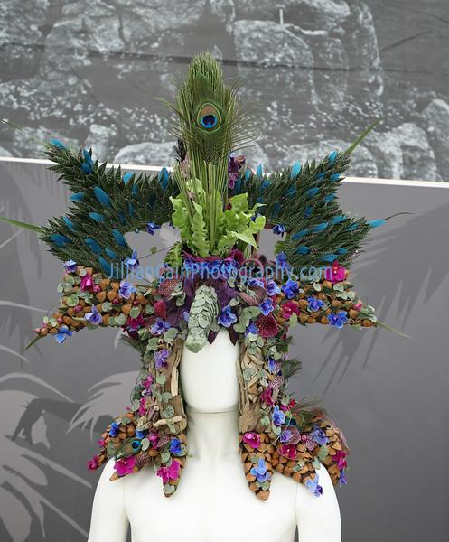 headdress made from flowers