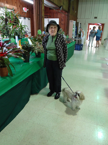 Everyone is coming to the show!      Here is Sue Sager and her dog Patches.