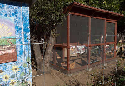 This is the newly completed chicken coop at Charles Street Gardens.