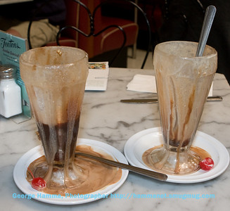 The remnants of a pair of Black and Tan sundaes at Fentons.