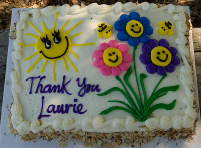 A carrot cake to celebrate Laurie's leadership.