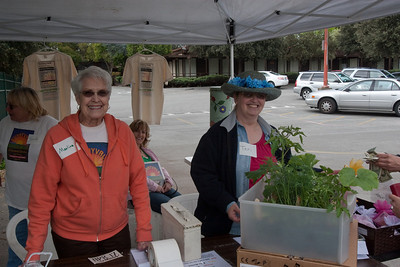 Enthusiastic volunteers collected money for plants picked out.