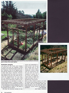 From our scrapbook: This is the article on our garden pergola that appeared in Fine Gardening magazine The Polaroid shows the raised beds before any emerging growth.
