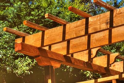 Rough sawn redwood