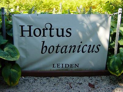 Hortus Botanicus - Leiden University 2003