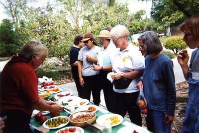 Tomato Tasting - Open Garden Event, 2001