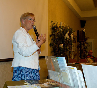 Janet telling about Master Gardeners as a resource