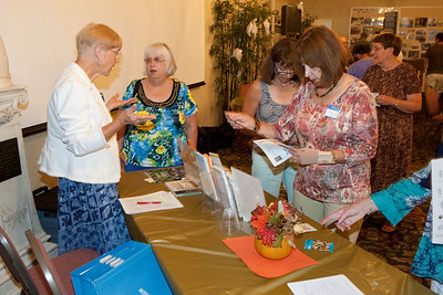 Collecting information at the Master Gardeners' table